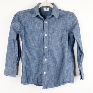 Old Navy Kid's Chambray Button Down Shirt Size M